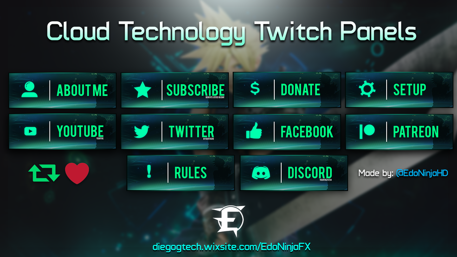 Cloud Technology Themed Twitch Panels