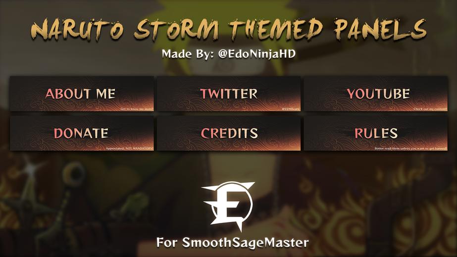 Naruto Storm Themed Panels