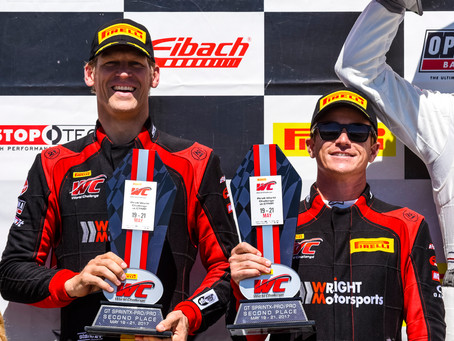 Wright Motorsports Returns to Podium in a Shortened Event at CTMP