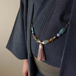 タッセル羽織紐着用