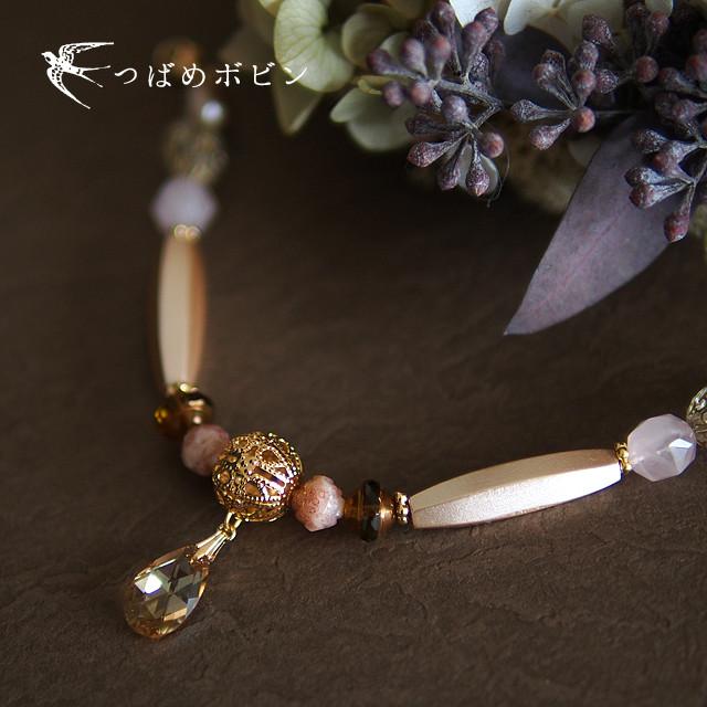 春の装いにおすすめ、雫のコラージュ羽織紐。
