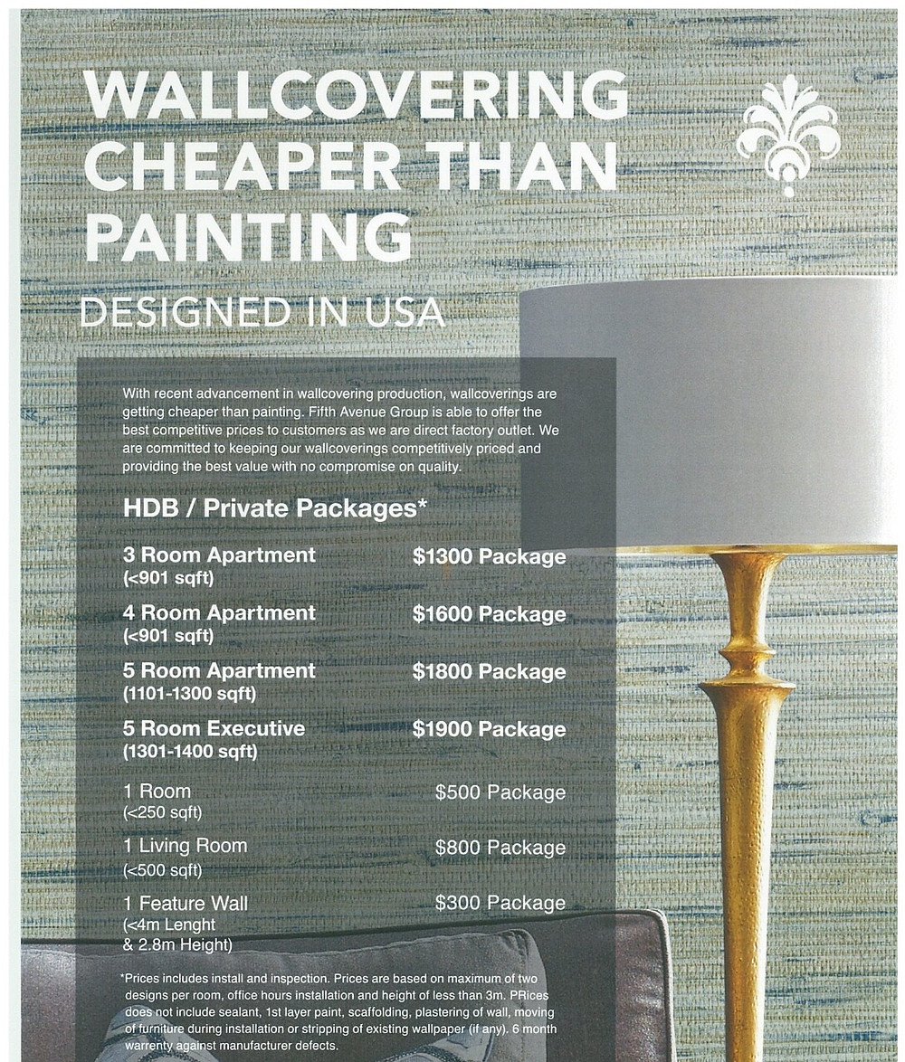 Wallcovering cheaper than Painting
