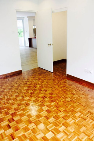 Re-varnish Work for 30 years old teak paraquat floor