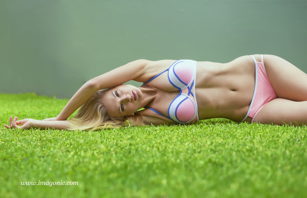 Yana - Lying down pose