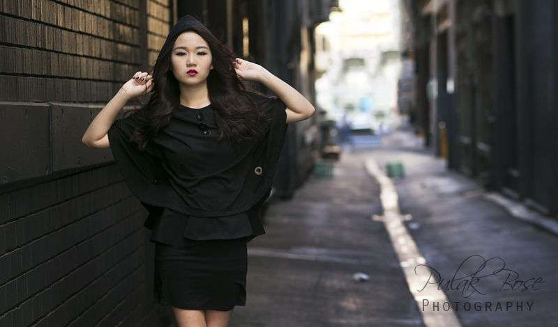 Fiona - Black Cape Asian Model