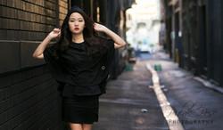 Fiona - Black Cape Asian Model