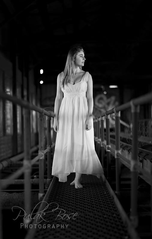 Jess - B&W Long White Dress