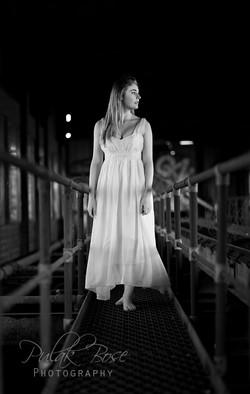 Jess - B&W Long White Dress