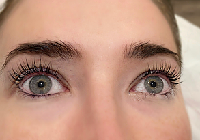 Lash lift at ashleigh hair