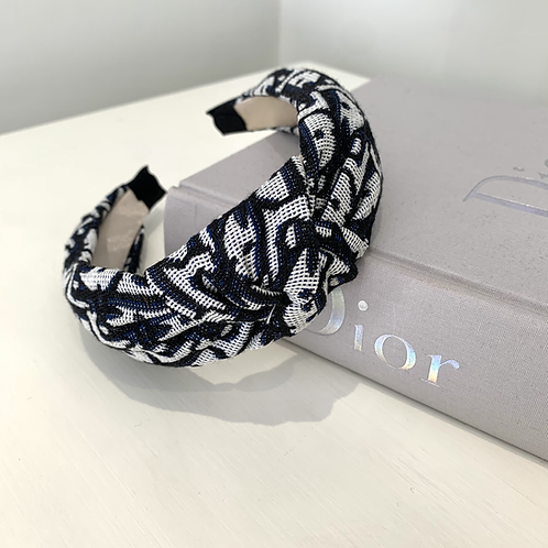 Black Dior Knot Inspired