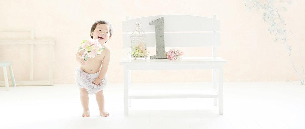 湘南辻堂,1歳記念写真