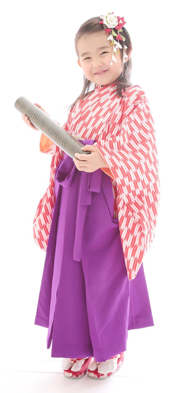 卒園袴,記念撮影