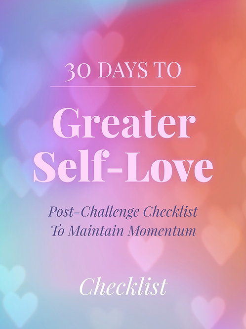 30 days to Greater Self-Love Worksheet