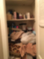Organize with Lisa OWL Before Closet Lisa Harris Professional Organizer Bergen County Paramus NJ