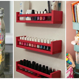 I just did #11, Re-purposing a lid rack!