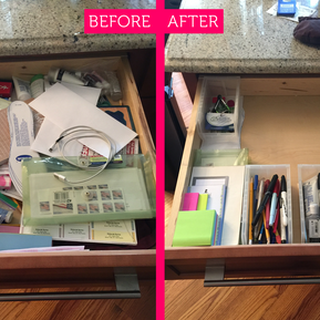 "Turning a ""junk drawer"" into a treasured supply center."