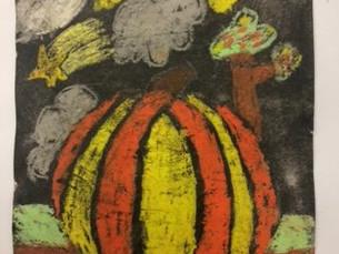 Batik style Autumn art