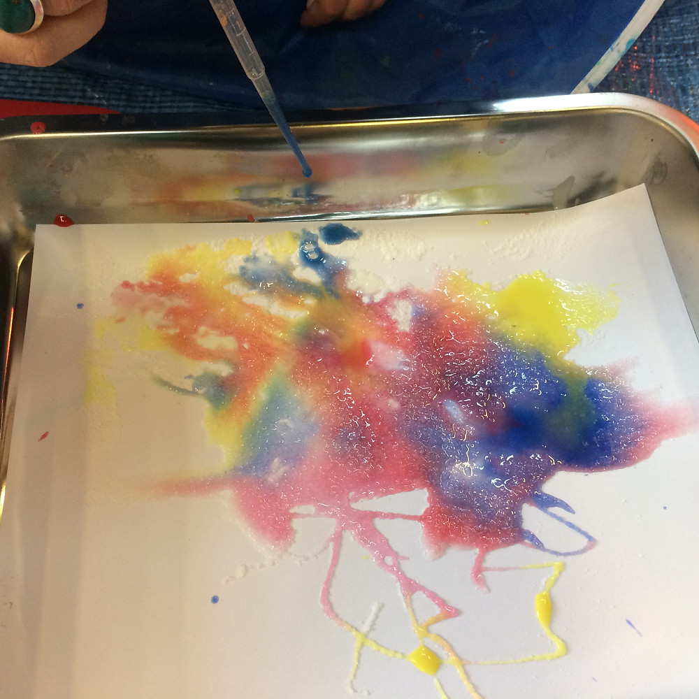 toddlers art & craft class | salty water colour fireworks