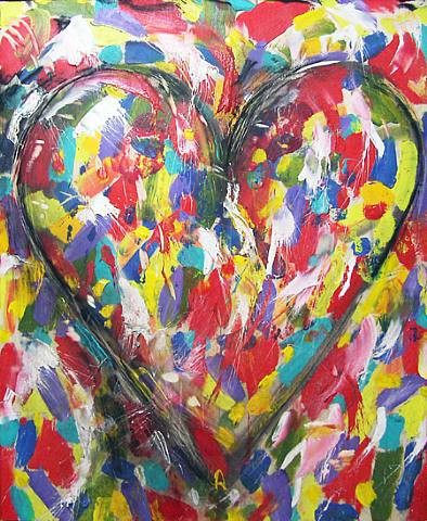 Heart art by Jim Dine