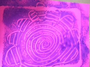 Monoprinting on baking trays