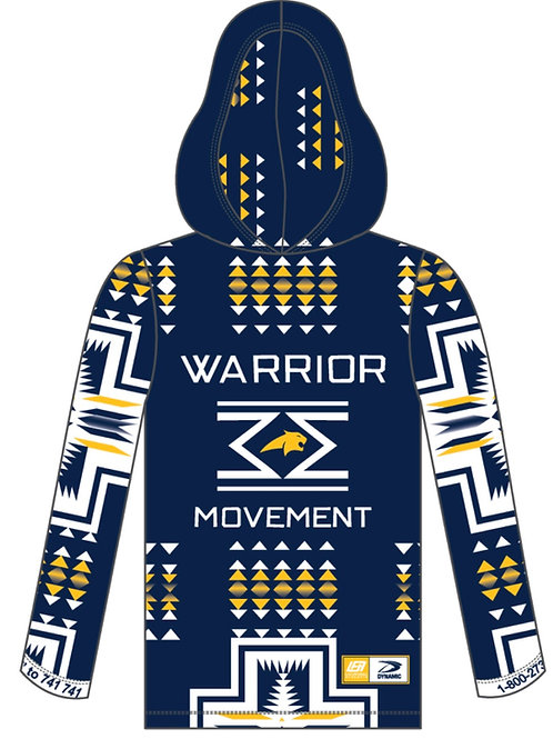 WM Hoodie- Blue with Gold