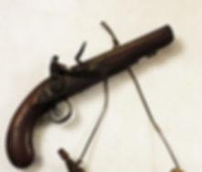 Flintlock Pistol; Powder Horn