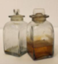 Pair of Blown Glass Perfume Bottles