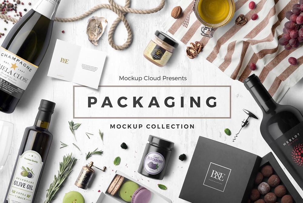Packaging mockup collection bundle