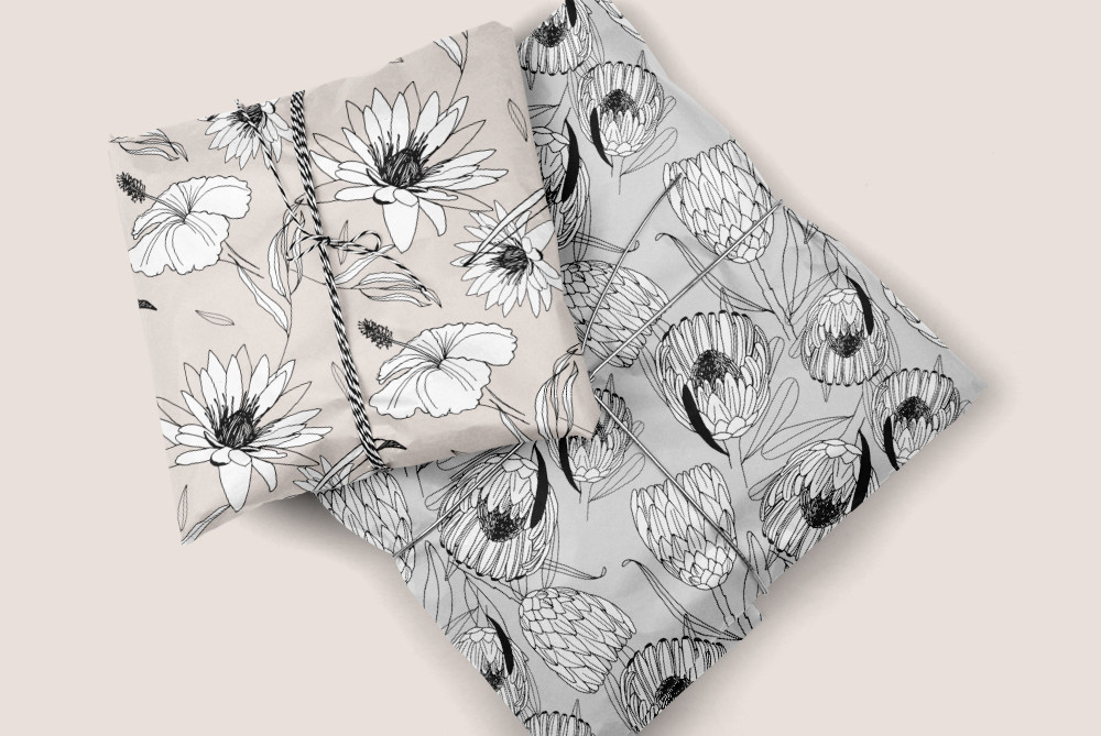 Floral Patterns printed on Wrapping Paper
