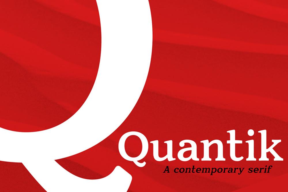 Quantik Contemporary free serif font