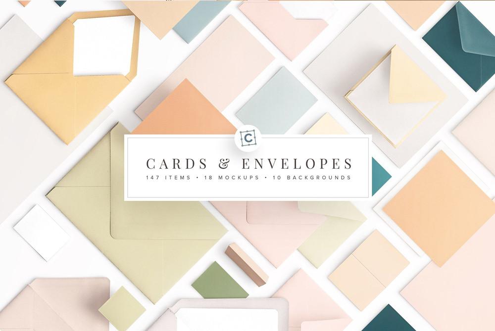 Cards & Envelopes mockups