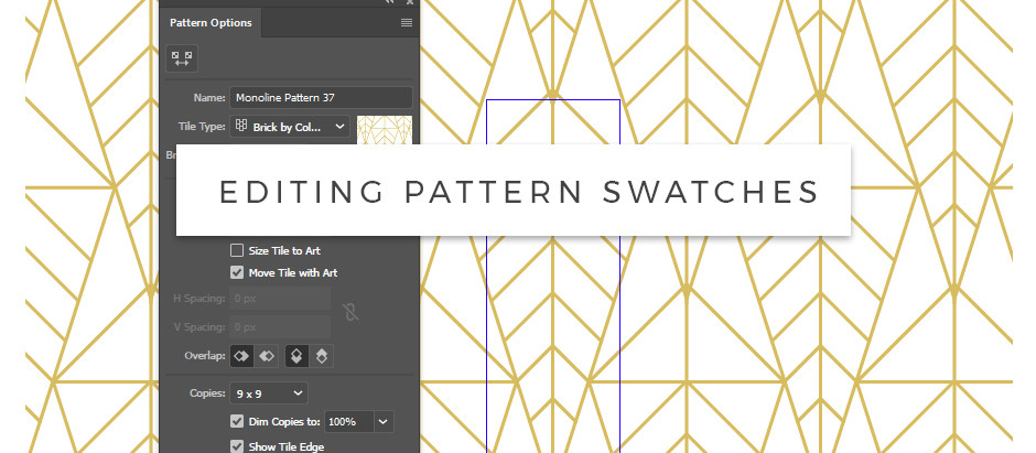How to edit Adobe Illustrator Pattern swatches