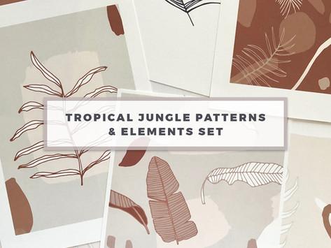 Latest Release: Tropical Jungle Patterns & Elements Set