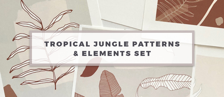 Latest Release: Tropical Jungle Patterns & Elements Set