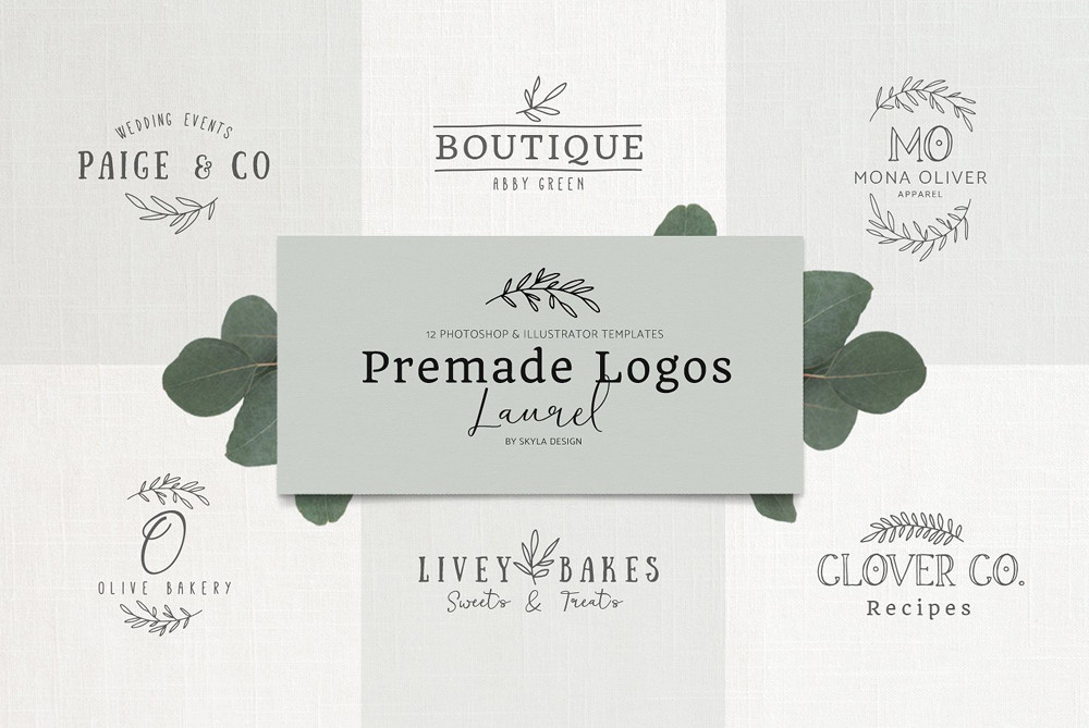 Premade Logos Laurel