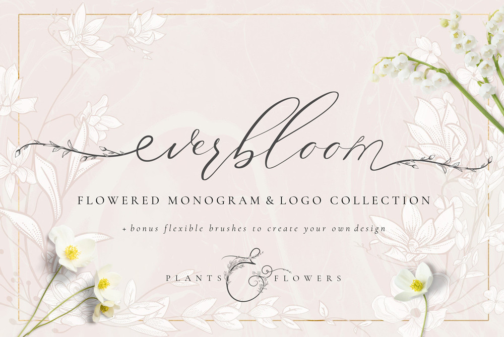 Flowered Monogram Logo Collection