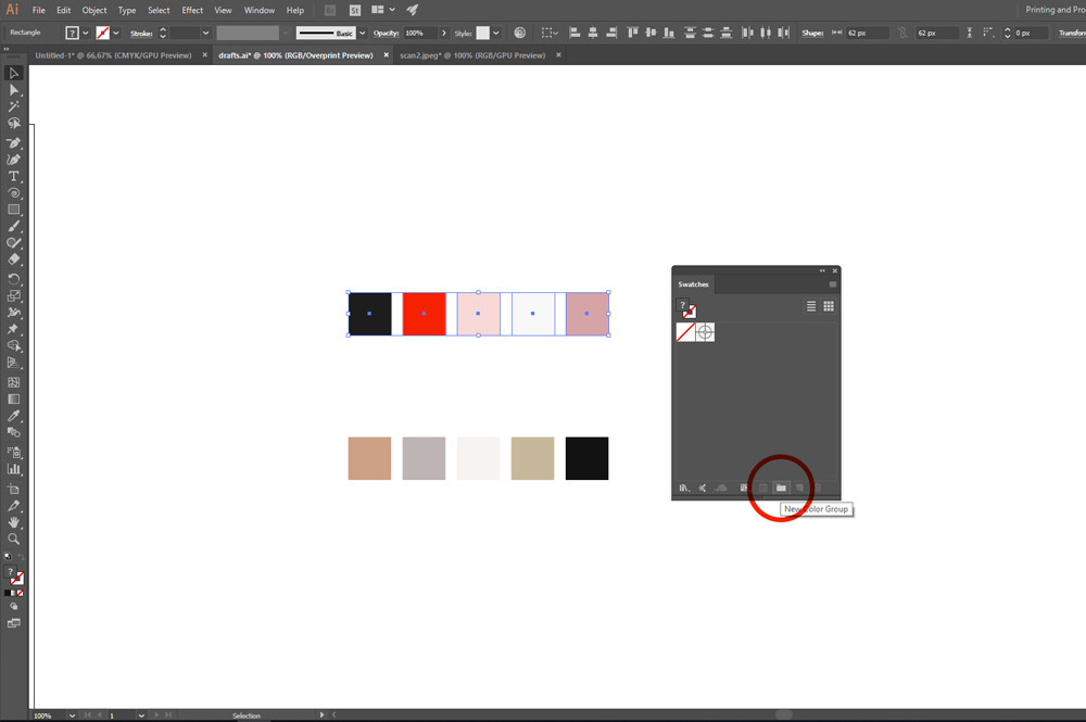Create Color Groups