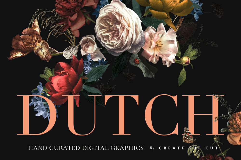 Vintage Floral Clip Art - Dutch by Create The Cut