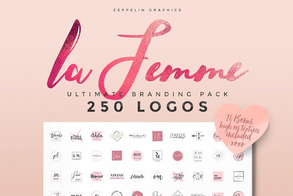 250 Feminine Logos