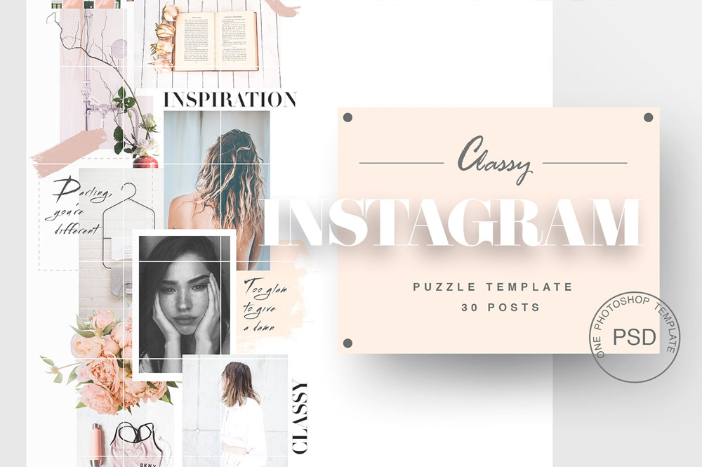 Instagram Puzzle Template - BY Marie T