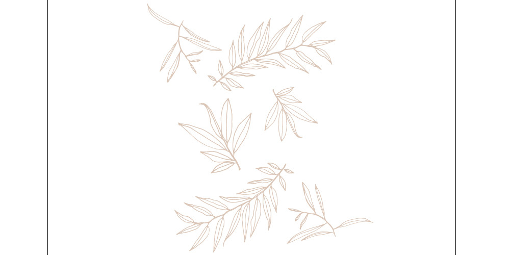 Leaves vector artwork - seamless pattern