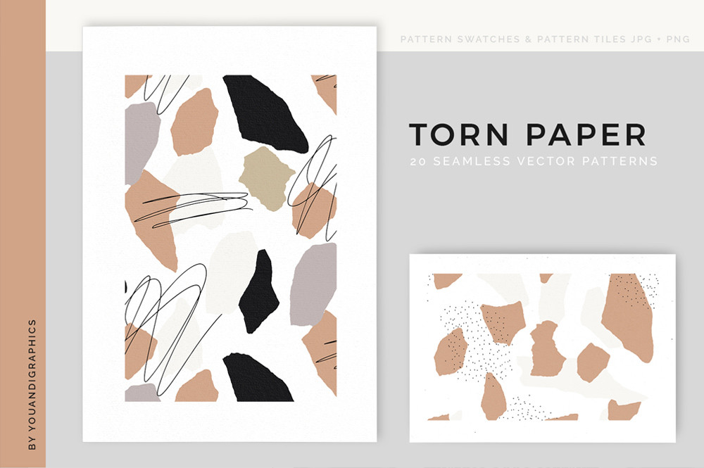 Torn Paper Abstract Vector Patterns