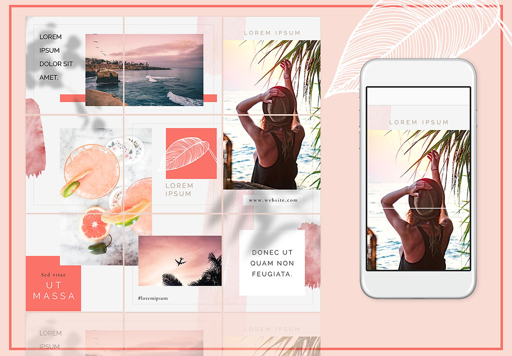 Instagram Puzzle Template for Photoshop - free download