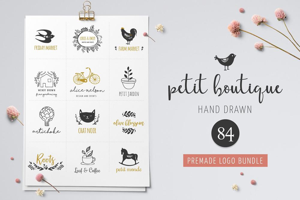 Petit Boutique Hand Drawn Logos