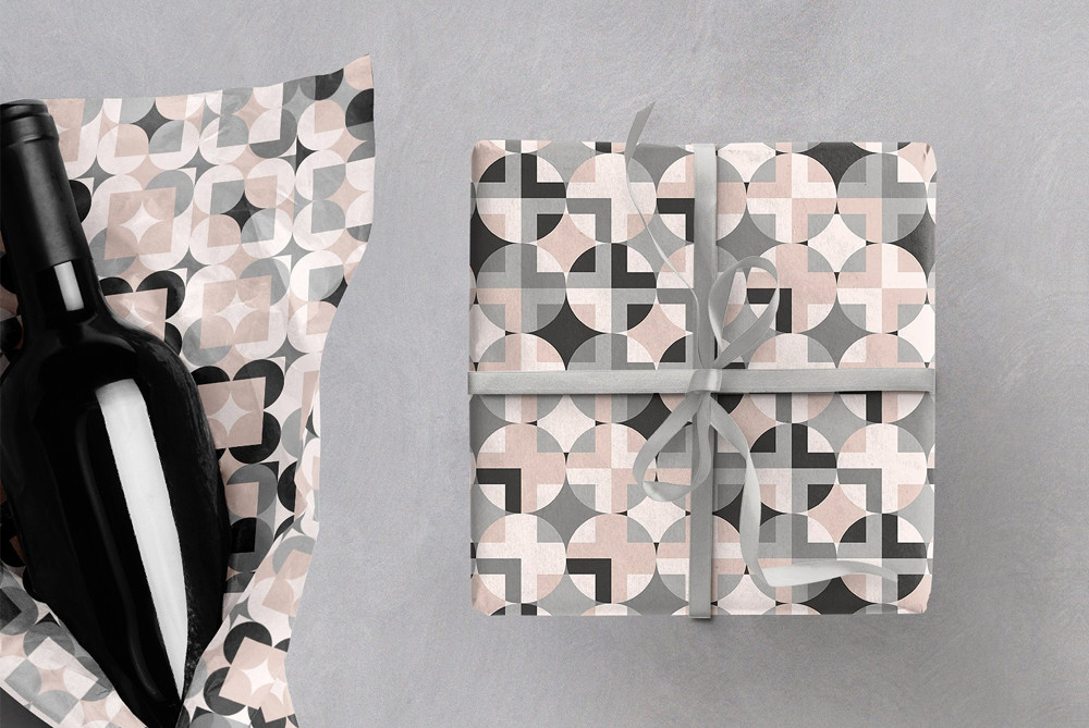 Geometric Patterns on Wrap Paper