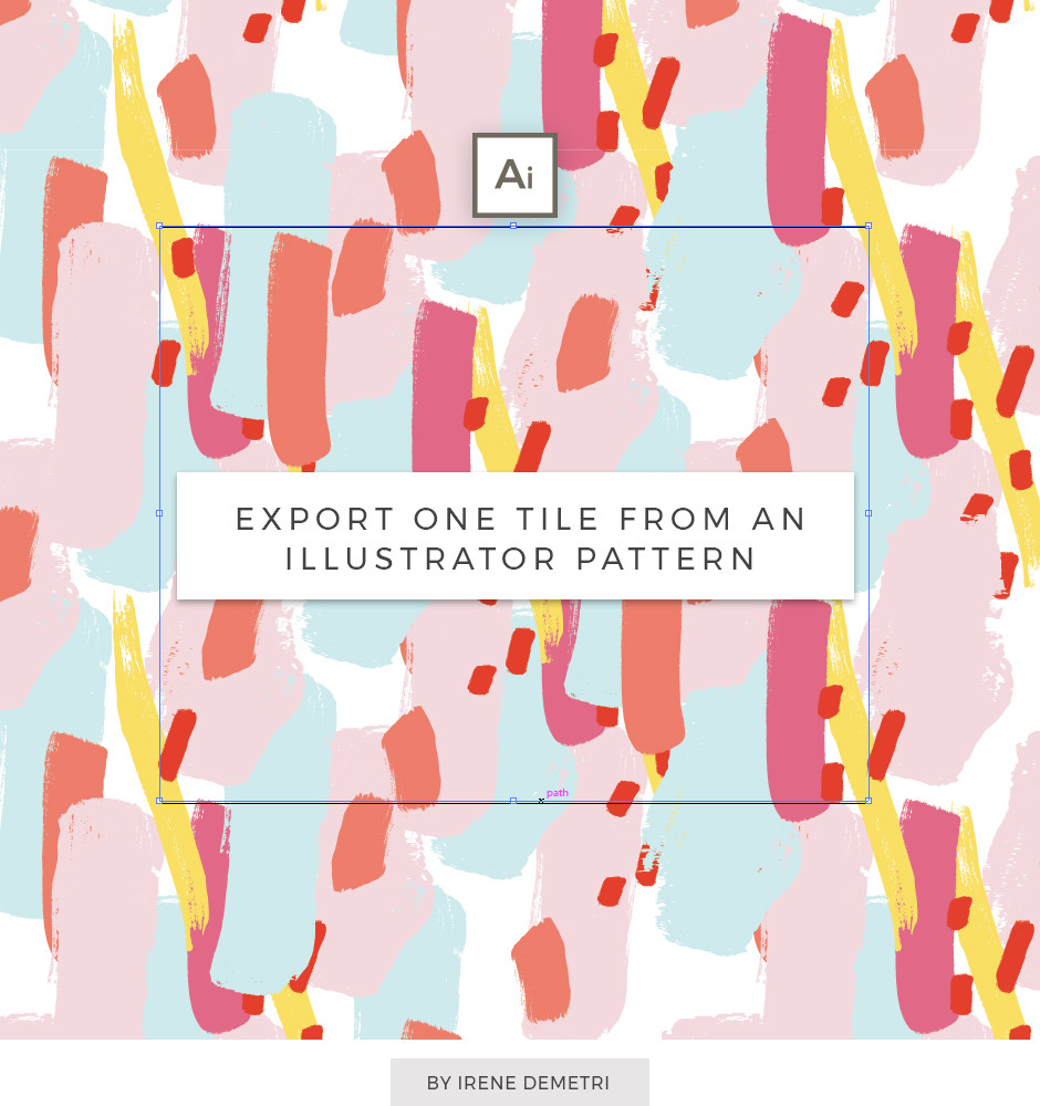 How to extract one Pattern Tile from an Illustrator pattern swatch