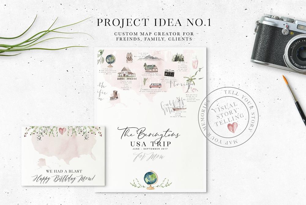 Custom Map Creator ideal for wedding invitations