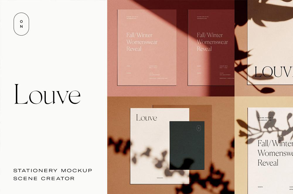 Louve – (Mockup Kit) Scene Creator - By October November