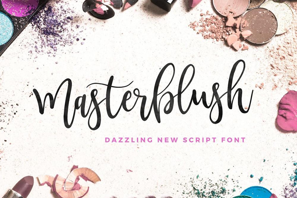 Masterblush script font