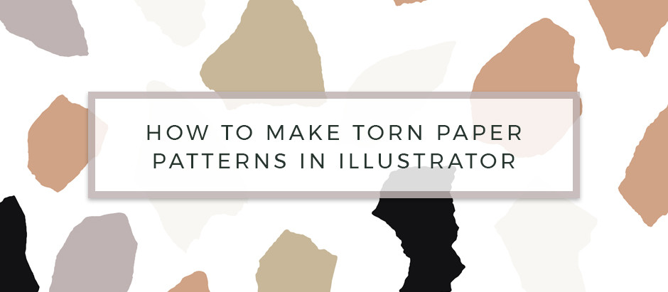 How to make Torn Paper, Abstract Illustrator Patterns.